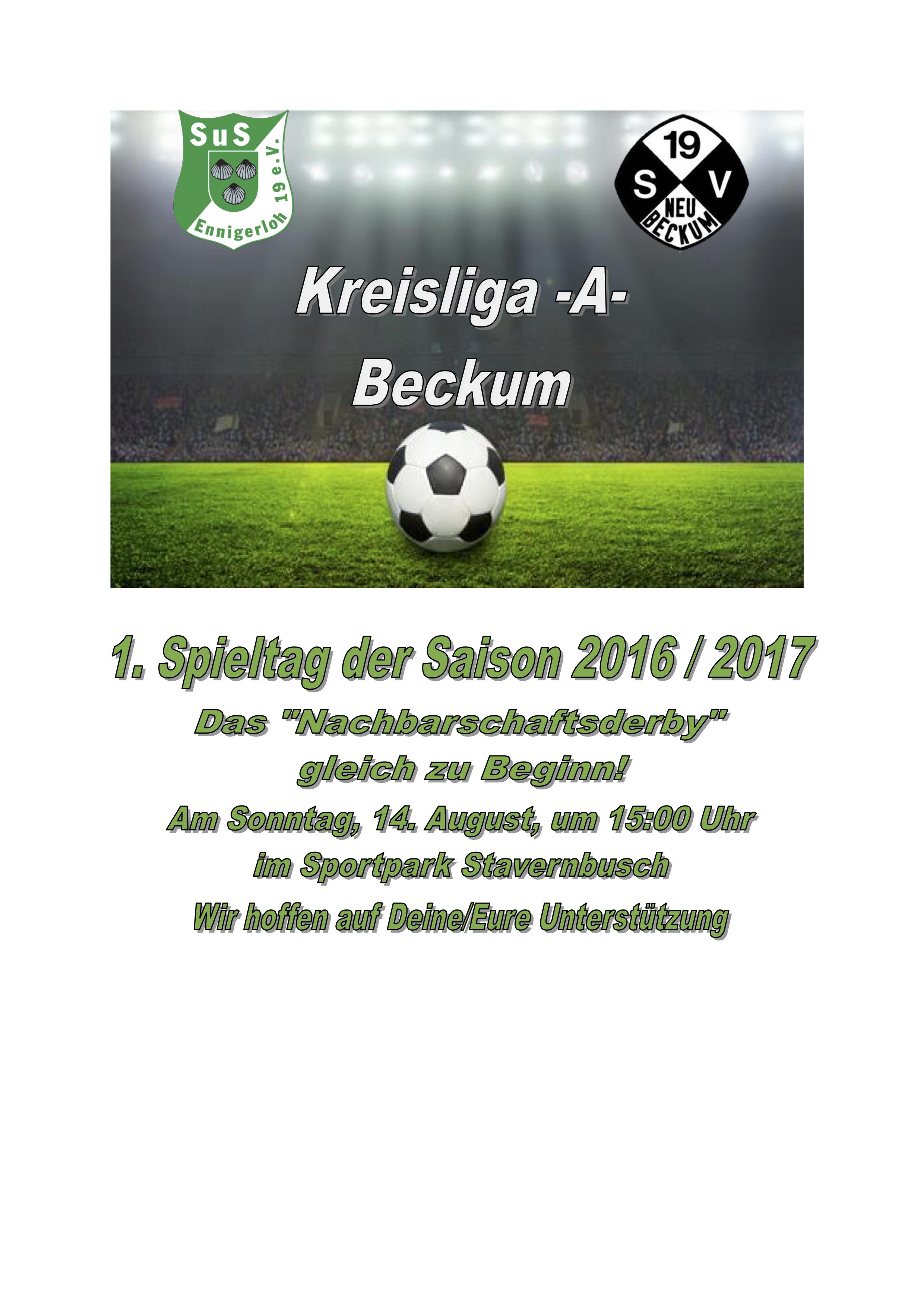 Spiel SuS Ennigerloh - SV Neubeckum