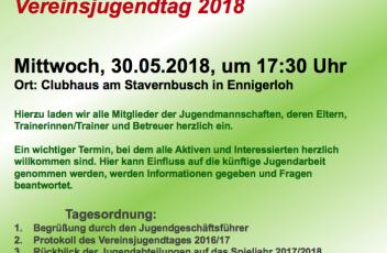 Einladung Vereinsjugendtag 2018