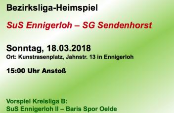 Heimspiel SuS-SG Sendenhorst